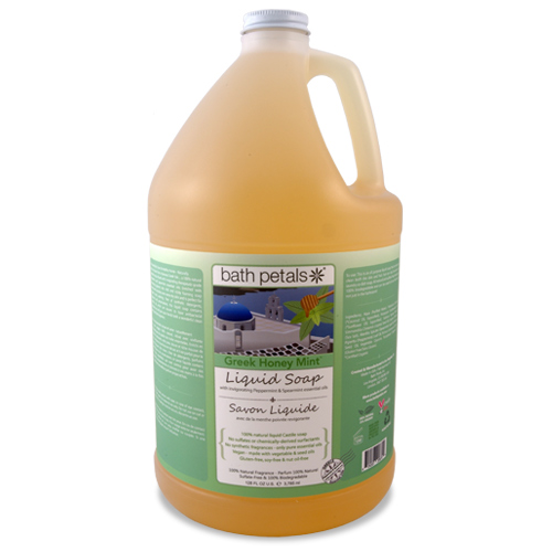 Greek Honey Mint Bath Liquid Soap - 1Gal.
